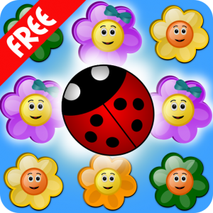 Flowers and Ladybug icon